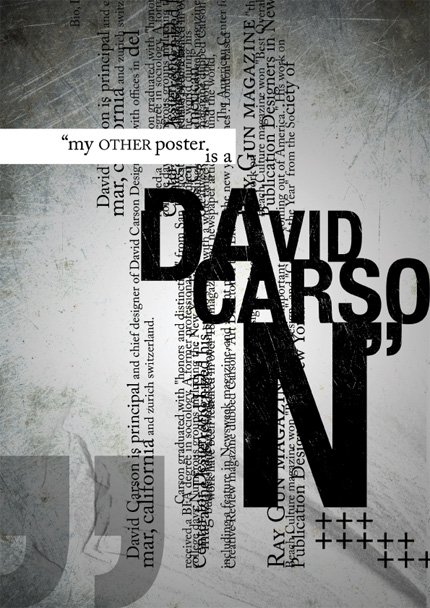 My other poster is a David Carson
